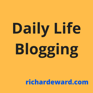 Daily life and Blogging are twp new categories on my blog.