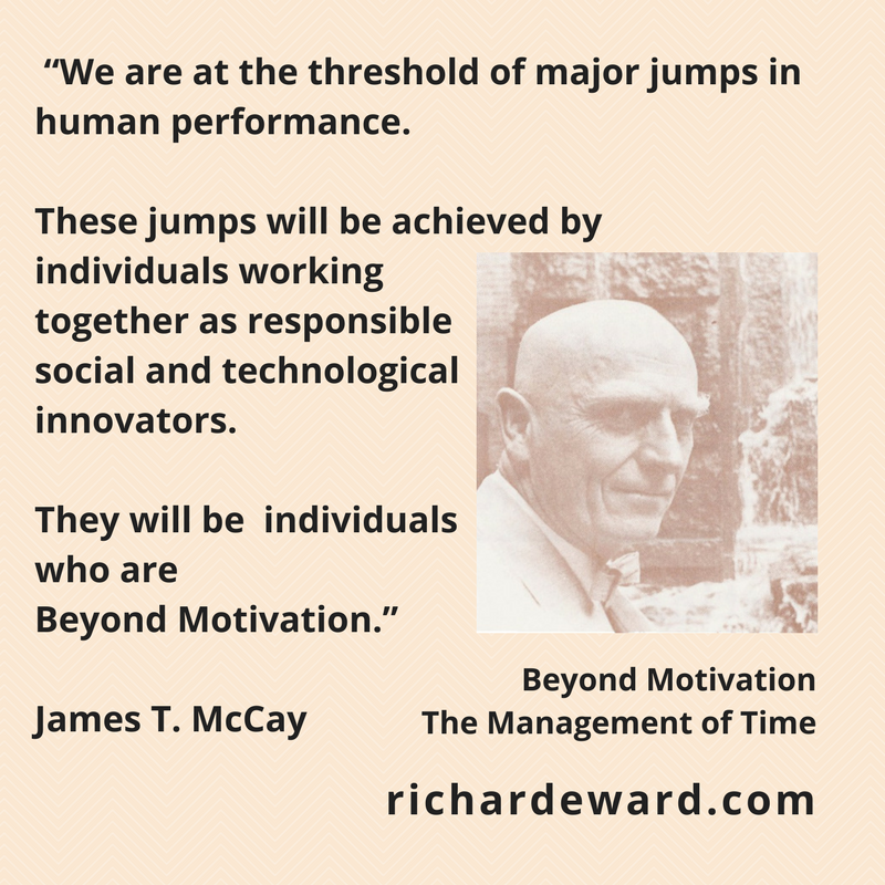 James T. McCay - We are at the threshold of major jumps in human performance