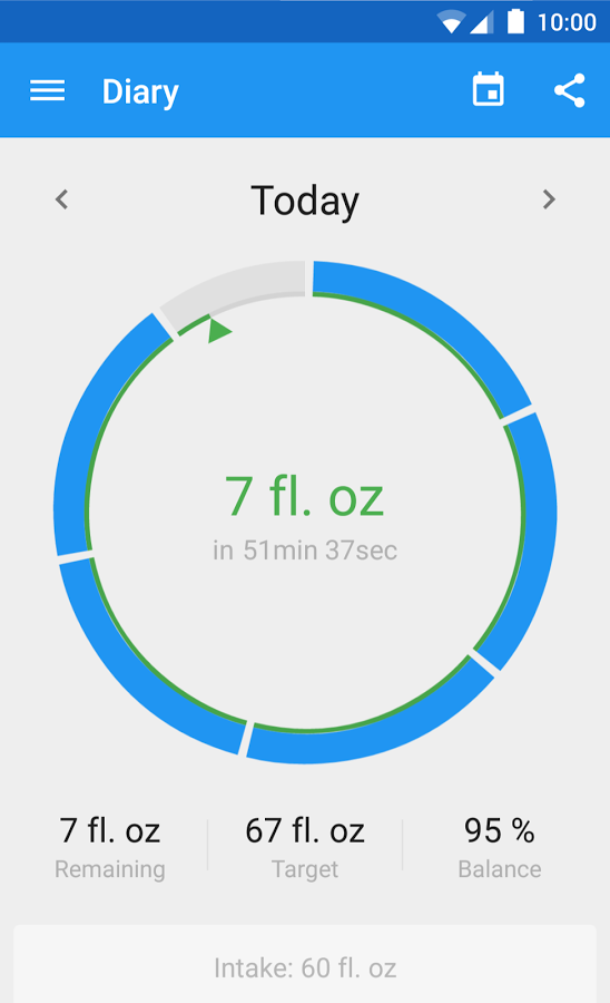 Hydro Coach ap for tracking water consumption. android