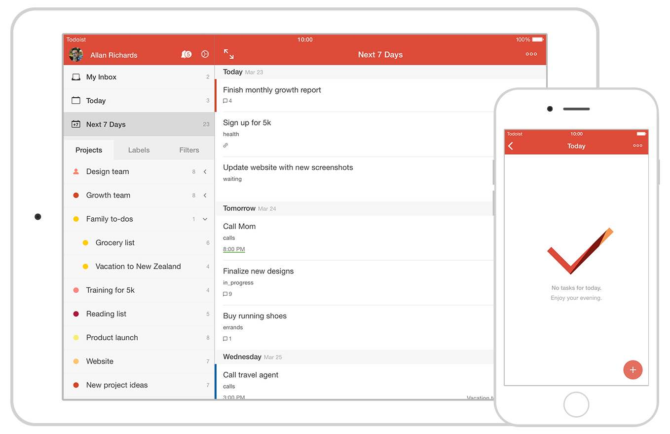 Todoist Todo List and Task Manager app