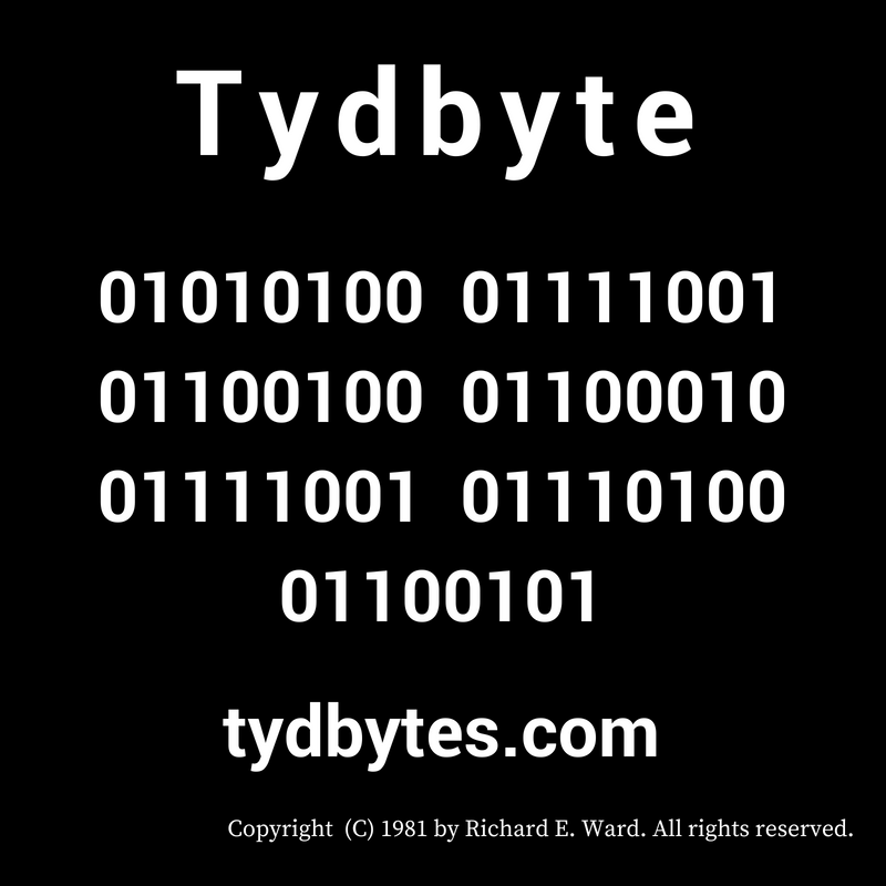 Tydbyte in Binary Code