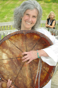 Jeannette McCullough with World Drum