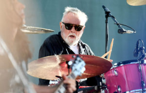 Roger Taylor playing drums
