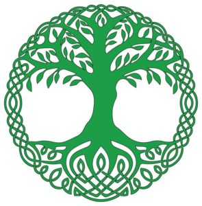 Celtic Tree of Life in green