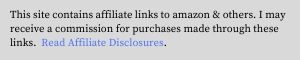amazon & affiliate disclosure